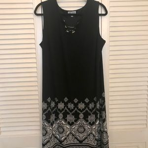 2/20 EUC Black and White Dress 2X